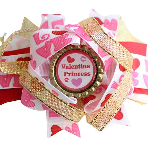 Valentine Princess Hair bow
