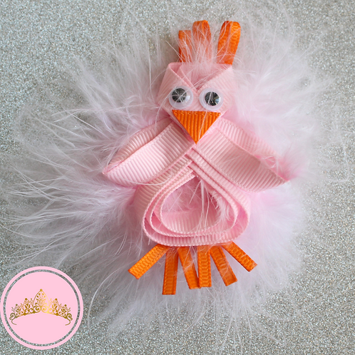 Fluffy Chick Hair Clip