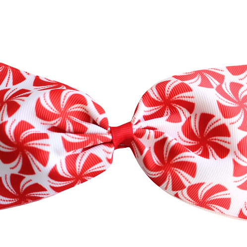 Large Candy Cane Hair Bow