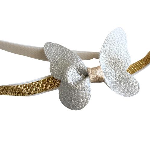 Faux Leather Butterfly Headband
