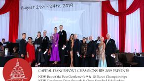 Capital Dancesport Championships Announces 2019 Gentlemen Events