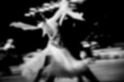 blurred couple dancers competition in ba