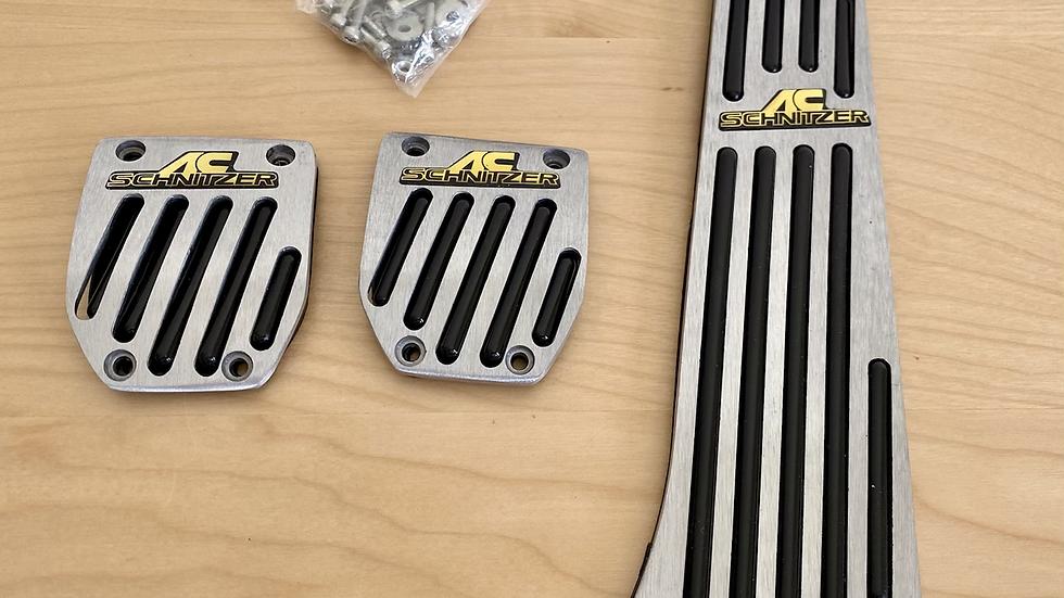 VW GTI GLI Metal AC Schnitzer Logo Pedal Pad Set.