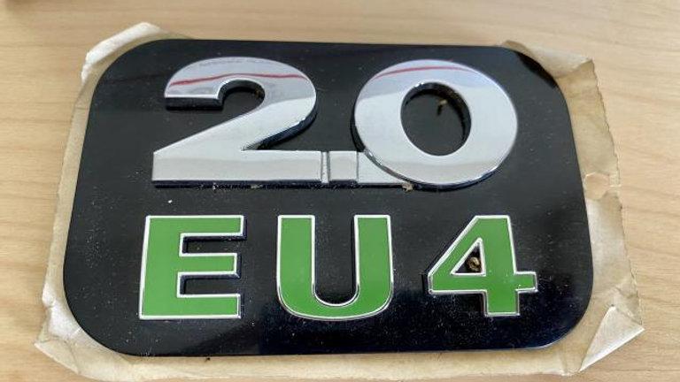 VW Jetta 2.0EU4 Engine Motor Emblem Logo Badge OEM
