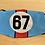 Thumbnail: 917 Le Mans 67 Unisex Face Mask Reusable Washable Cover.
