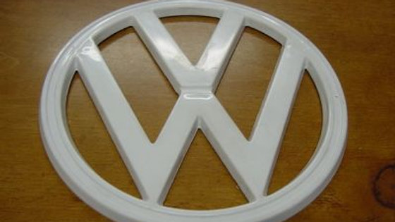 VW TYPE 2 BUS FRONT EMBLEM WHITE 72 - 79 OEM