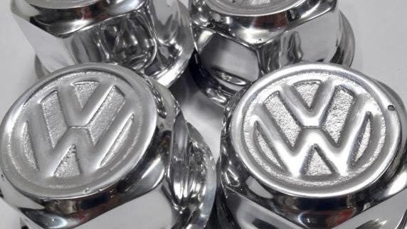 "VW ""Marathon"" ""Sport Jeans"" Wheel Center Caps SET NEW"