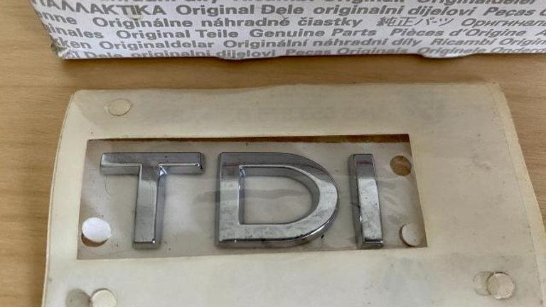 VW TDI Rear Badge Emblem Chrome 1K5853675B