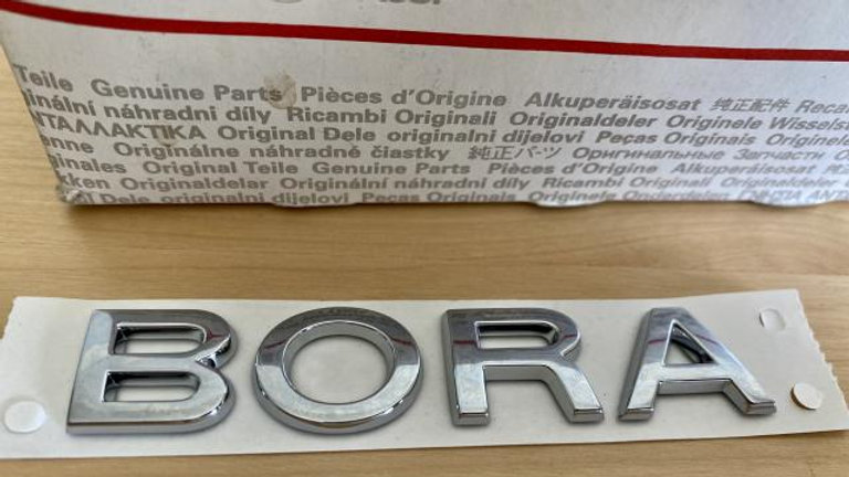VW BORA Rear Trunk Boot Badge Emblem OEM