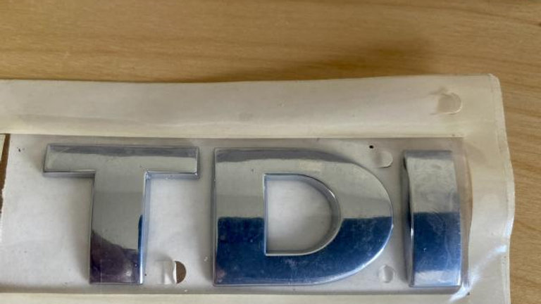 VW TDI Rear Trunk Boot Badge Emblem Chrome OEM NEW