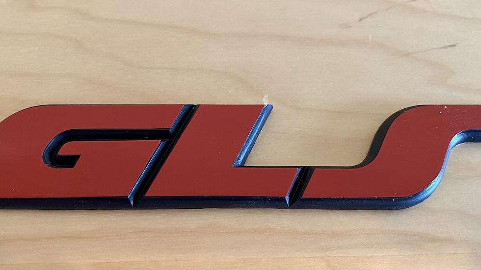 VW  MK3 A3 92-99 GOLF JETTA GLS Rear Emblem Badge 1HM853675C RED