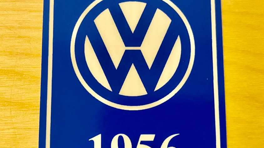 VW T1 T2 T3 GHIA BUG BUS YEAR LOGO STICKERS