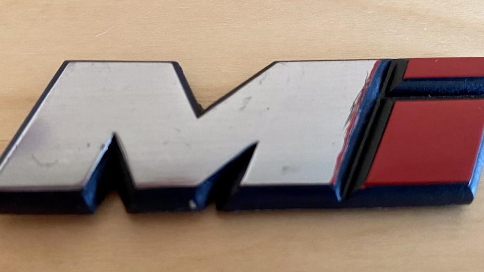 VW MK3 A3 93-99 Golf Mi Emblem Badge Logo 7CM 1HM853675 OEM