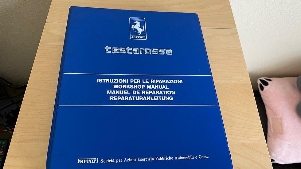 Ferrari Testarossa Workshop Manual Book