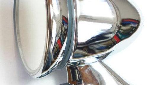 Chromed Talbot Mirror Porsche Ferrari Cobra Alfa