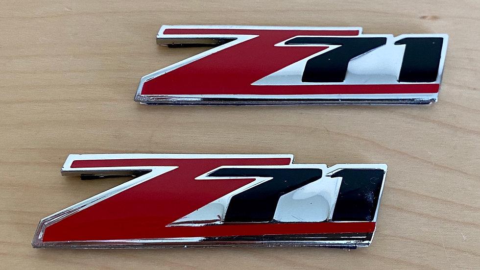 """Z71"" ""Z71 4X4"" Badge Emblem NEW PAIR"