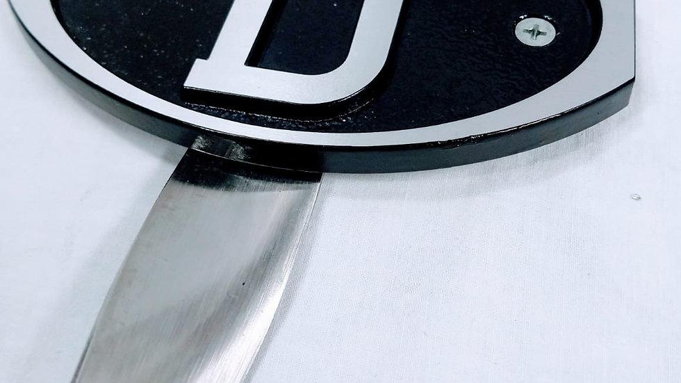 "VW Bug Oval Aluminum ""D"" Plate Robri"