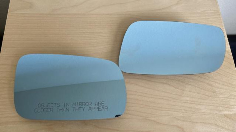 VW MK4 GTI JETTA Blue Tint Heated Mirror Insert