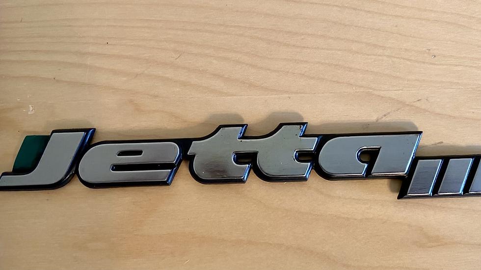 VW MK3 A3 JettaIII JETTA III Trunk Badge REAR EMBLEM 1HM853687AD OEM NEW