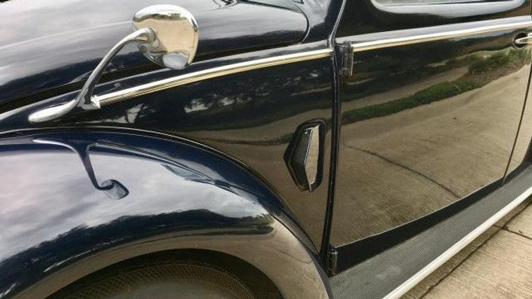 VW BUG BODY MOLDING KIT 49-52 RIBBED STYLE 7PCS SET