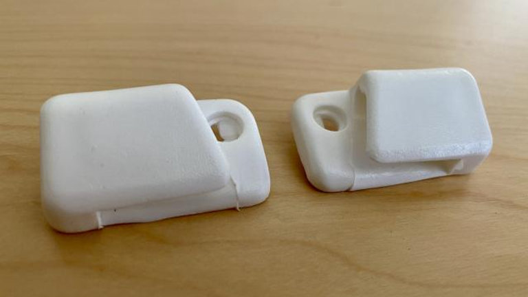 VW BUG GHIA TYPE 3 SUPER BEETLE SUN VISOR CLIPS WHITE