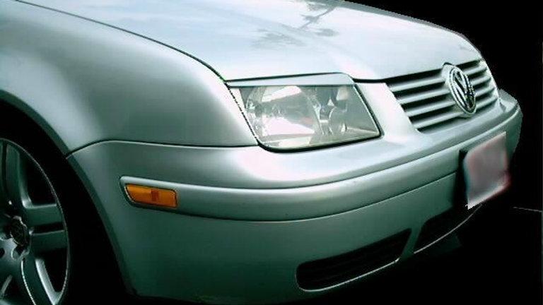 VW JETTA  4 MK4 GLI HEADLIGHT EYELIDS EYEBROWS
