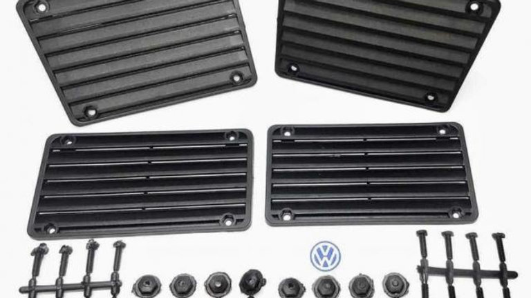 VW Bug Deck Lid Rain Deflector W/Hardware SET