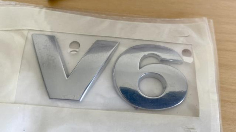 Genuine VW Touareg V6 Rear Emblem Label Badge