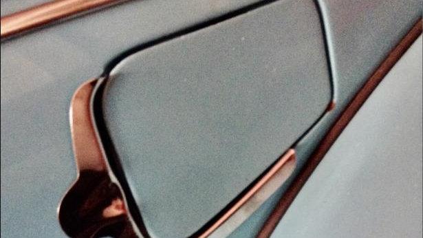 VW BUG SUPER BEETLE GAS DOOR CHROME MOLDING