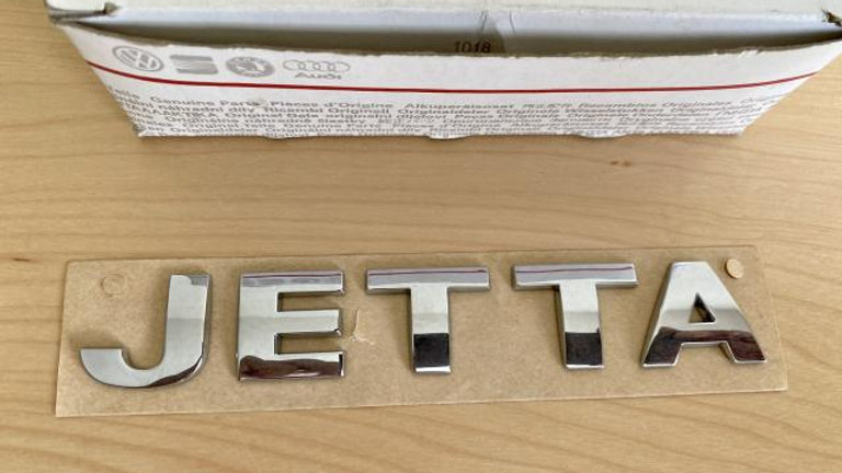 VW JETTA Rear Trunk Boot Badge Emblem Chrome OEM