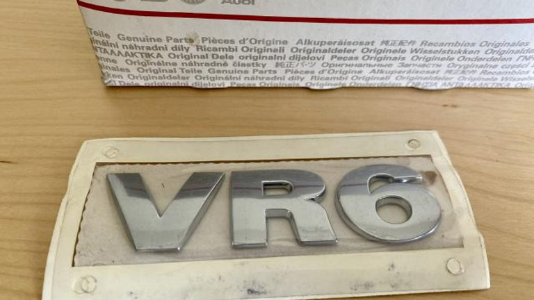 VW VR6 Rear Trunk Boot Badge Emblem Chrome NEW OEM