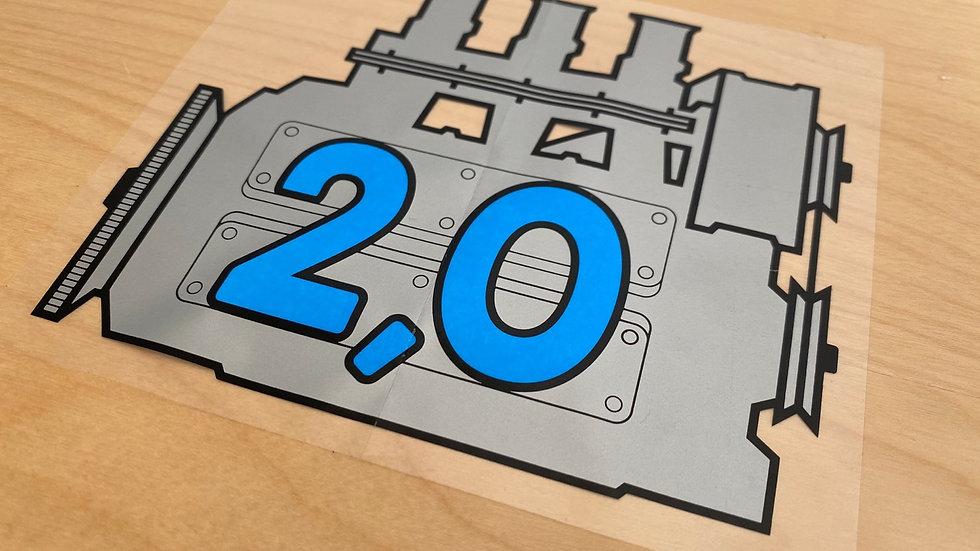 Porsche 911 Window Decal Sticker Engine Size.