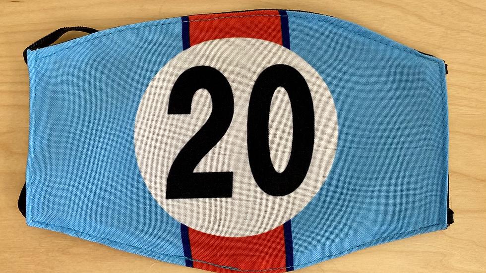 PORSCHE 917 LeMans 20 Face Mask Reusable Washable