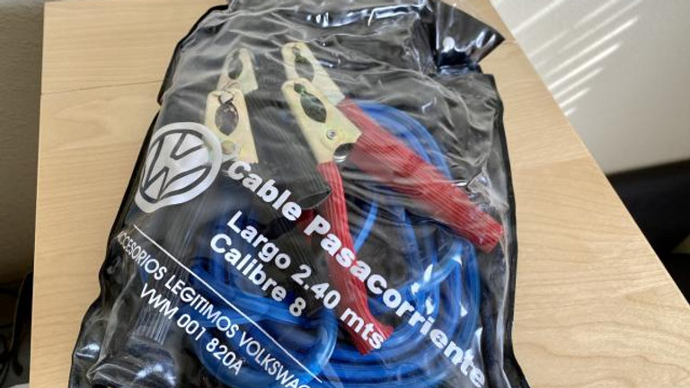 VW GENUINE Battery Jumper Cables
