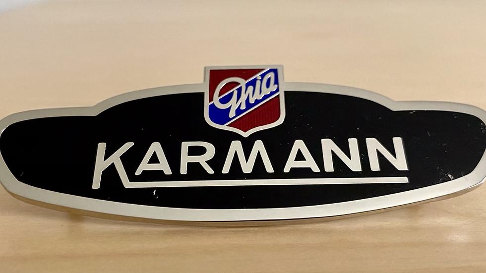 VW KARMANN GHIA FENDER SIDE BODY BADGE EMBLEM NEW !