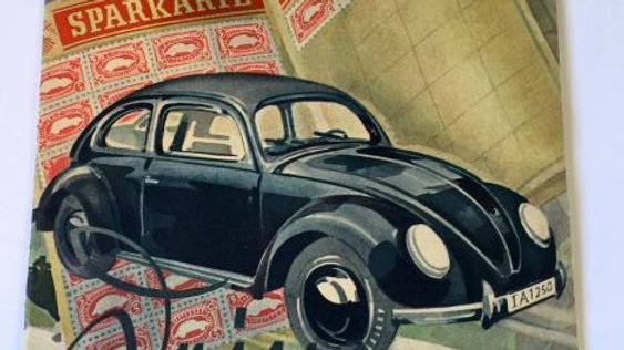 1938 KDF Wagen brochure VW beetle split ORIGINAL