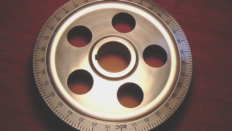 VW BUG BUS GHIA Polished Pulley with Holes Black
