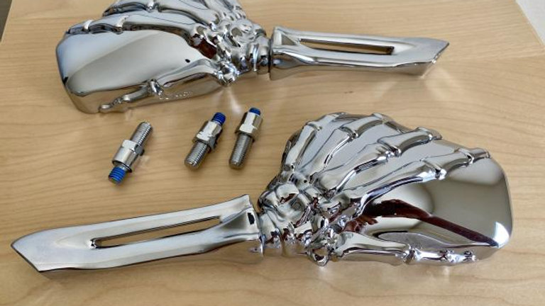 VW BUGGY MANX BUG BAJA Skeleton Hand Mirrors SET