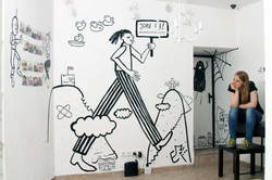 Mural and the artist