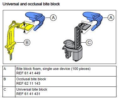 Occlusal Bite Block for ORTHOPHOS OPG's