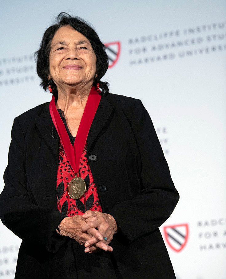 2019 Radcliffe Medalist Dolores Huerta. Photo by Tony Rinaldo