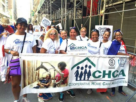 Cooperative Home Care Associates (CHCA) honored by NYC Dominican Parade Association and CHCA workers march in the parade (8/14/16)