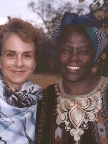 Frances w Wangari Maathai by Anna Lappe.tif