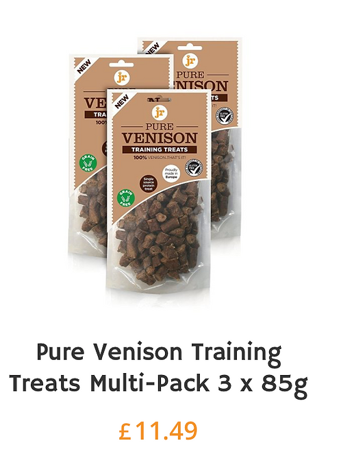 J R Pet Training treats pack of VENISON on offer