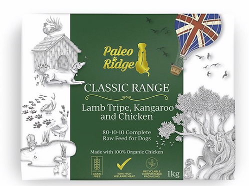 Paleo Ridge Classic Kangaroo Lamb tripe & Chicken  1kg