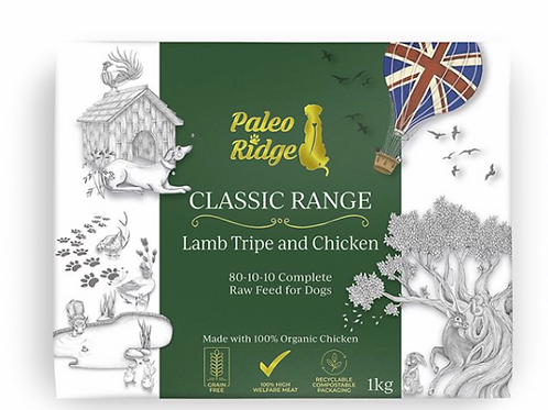 Paleo Ridge Classic Lamb tripe & Chicken   1kg