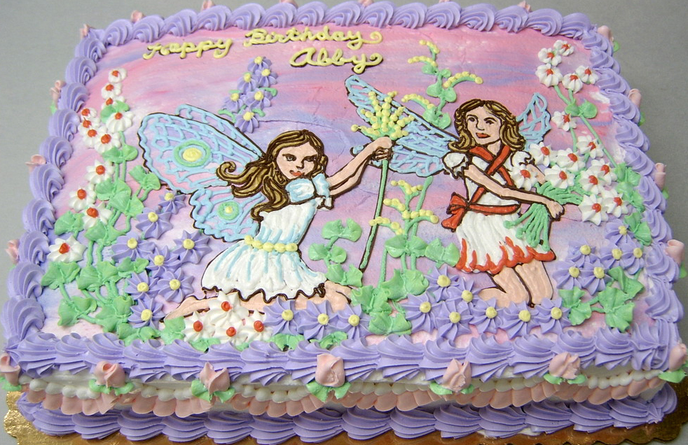 Girl Elegant Fairies Cake