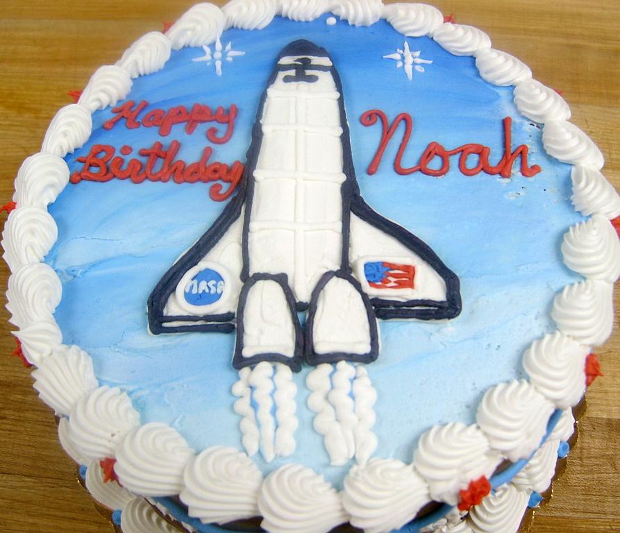 Boy Spaceshuttle Cake
