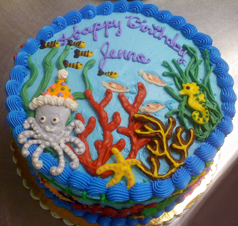 Girl Whimsical Undersea Cake