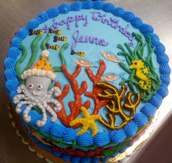 Girl Whimsical Undersea Cake